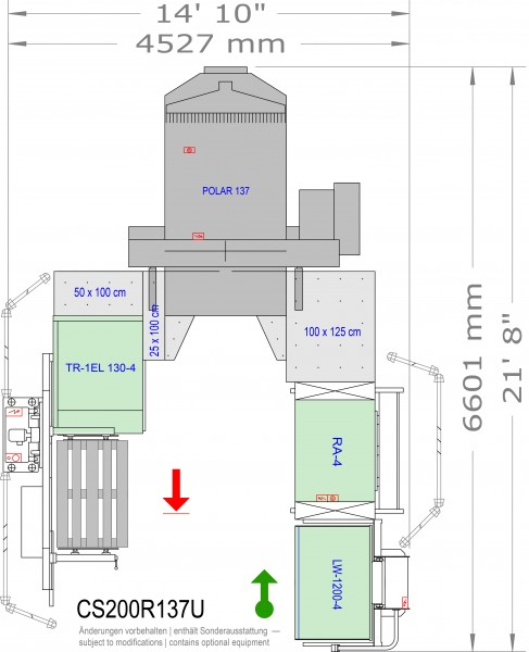 POLAR CuttingSystem 200, CS-200-R-137-U