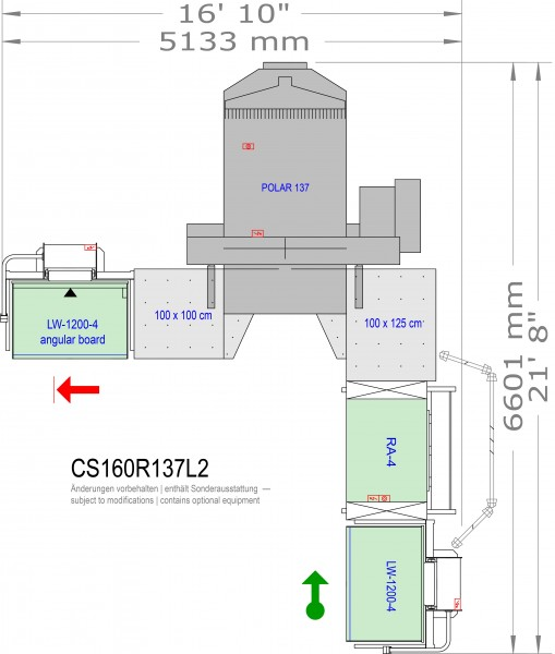 POLAR CuttingSystem 160 CS-160-R-137-L2